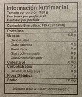 Tostadas de maíz horneadas - Voedingswaarden - es