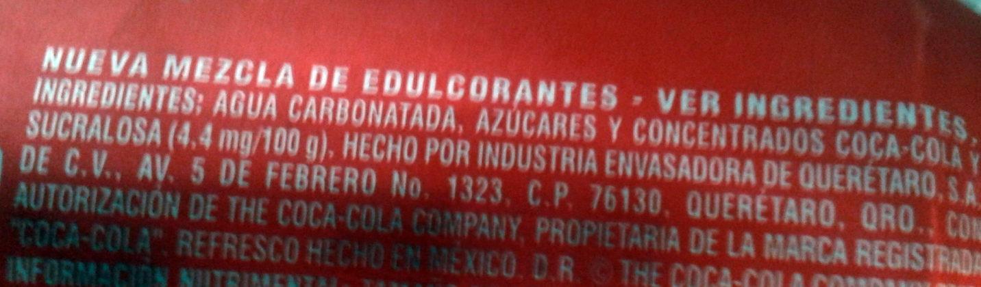 Coca-cola - Ingredientes - es