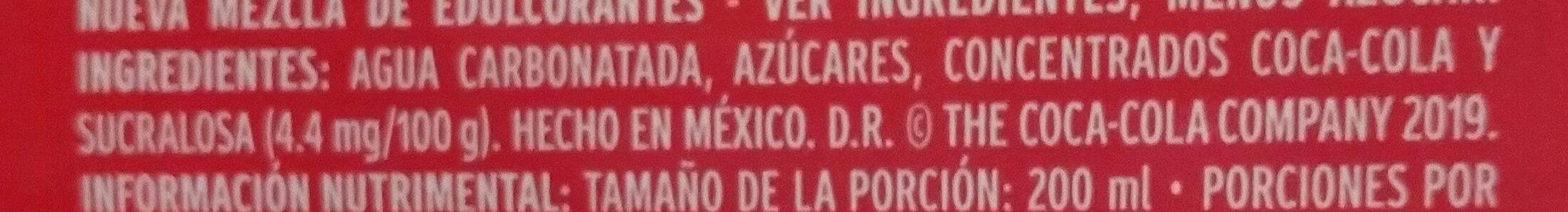 Coca-Cola sabor original - Ingrédients - es