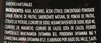 Powerade Ion 4 Frutas - Ingrédients - es