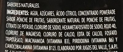 Powerade Ion 4 Frutas - Ingredients - es