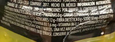 Powerade Ion 4 Lima-Limón - Nutrition facts - es