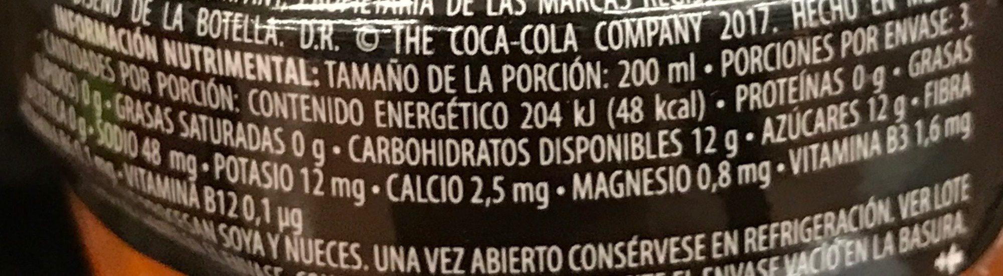 Powerade Ion 4 Naranja - Nutrition facts - es