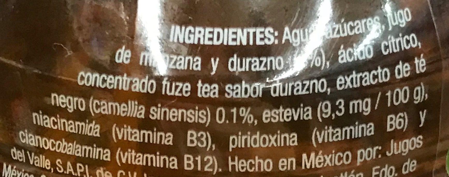 Fuze Tea Te Negro - Ingrediënten