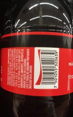 Coca cola sin azúcar - Ingredientes