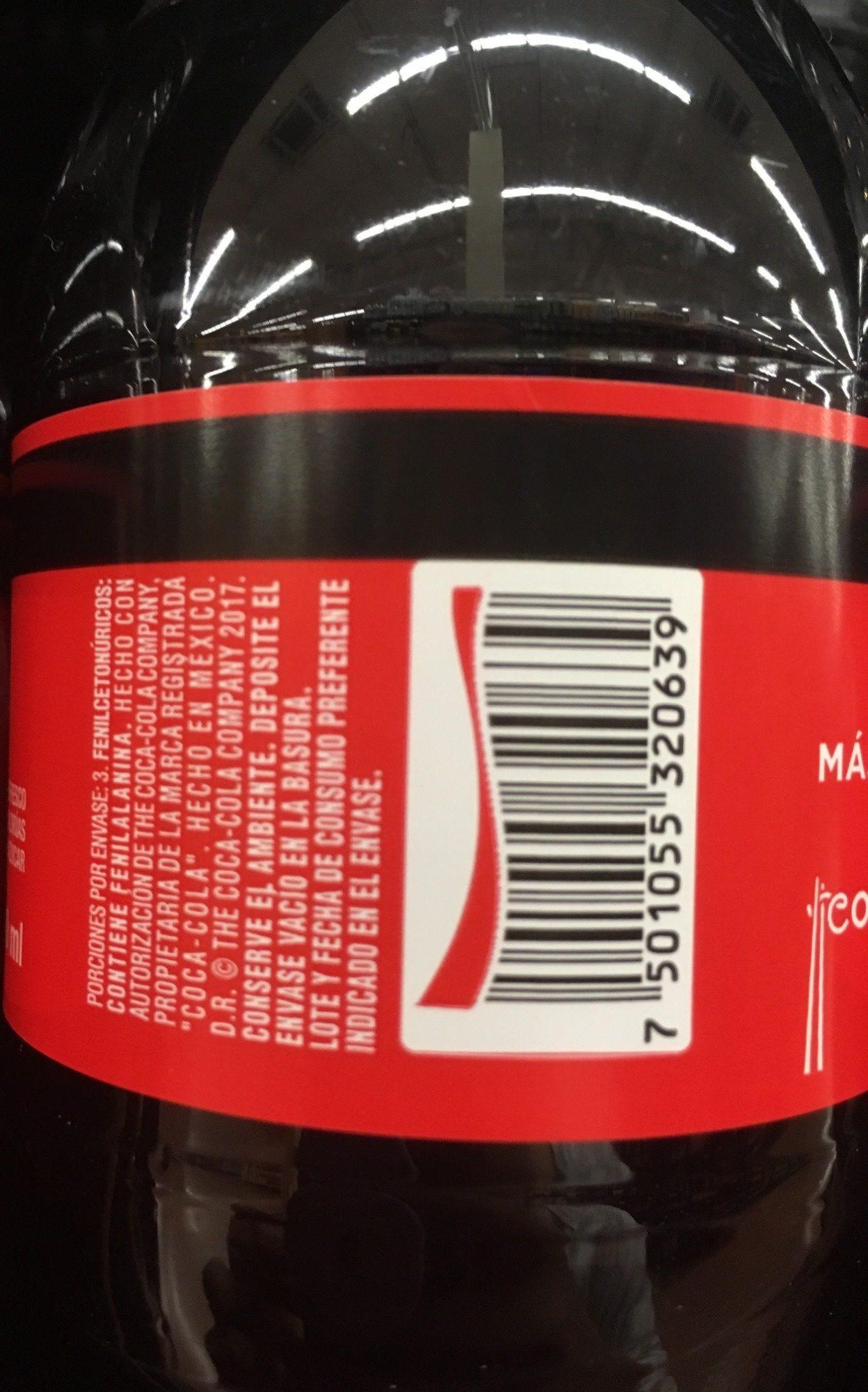 Coca cola sin azúcar - Ingredientes - es