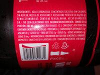 Coca Cola Sin Azúcar - Ingrediënten - es