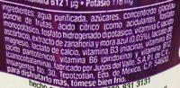 Vitaminwater Restore ponche de frutas - Ingrediënten