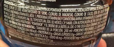 Powerade sabor Moras - Ingrediënten
