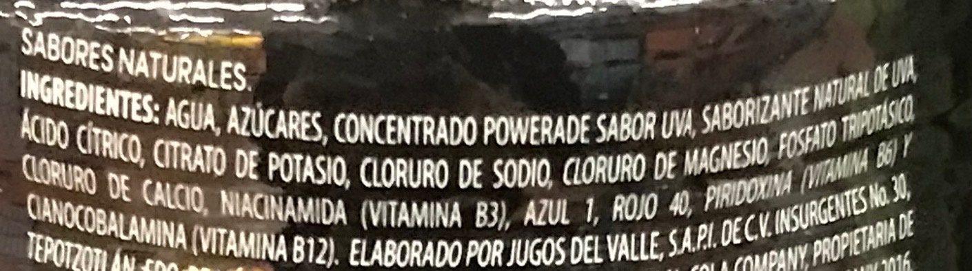 Powerade Uva - Ingrédients - es