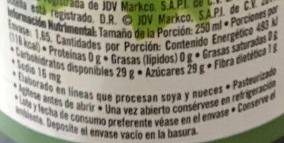 Del Valle Nectar de Guayaba - Información nutricional - es