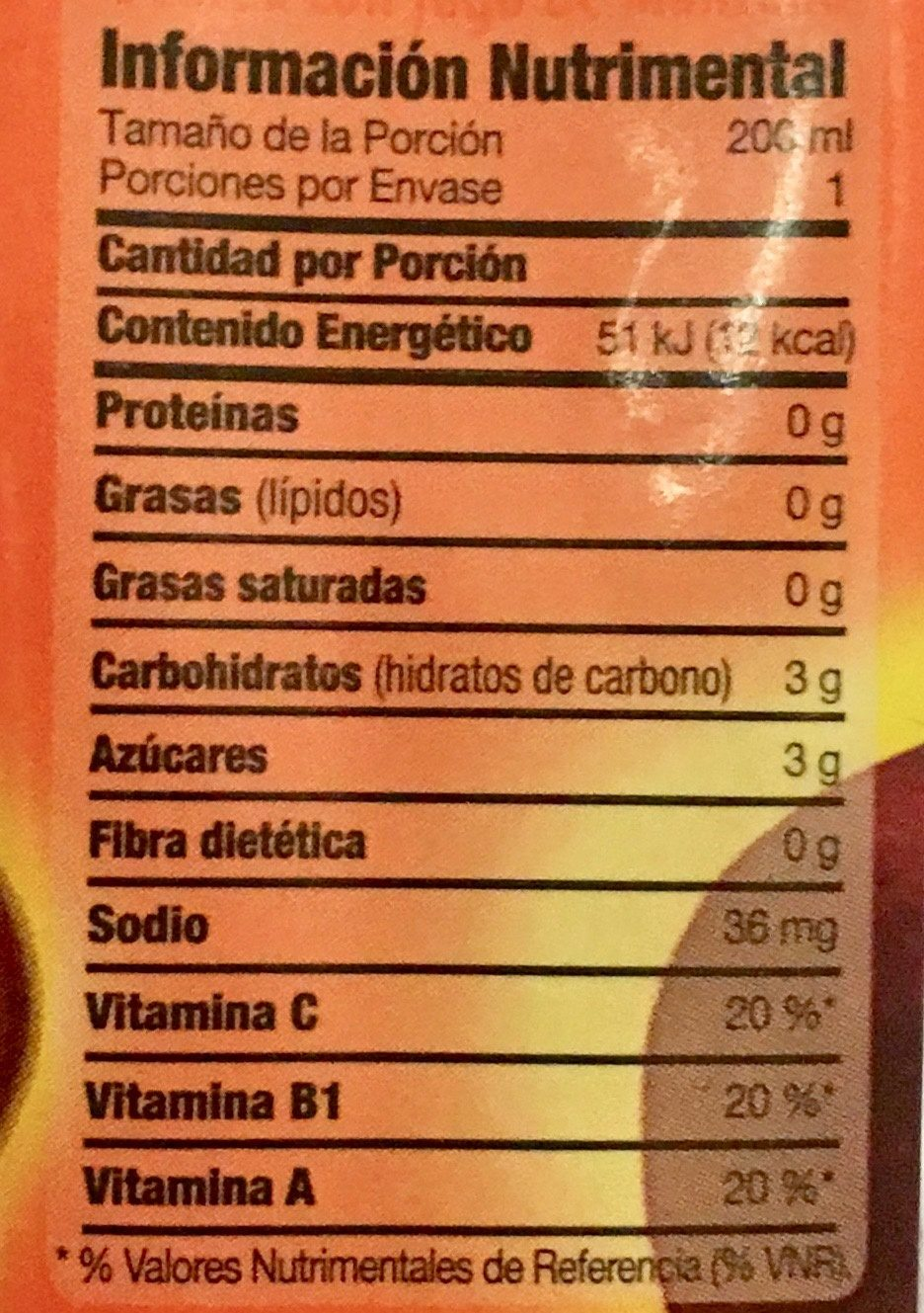 Florida 7 Manzana - Informations nutritionnelles