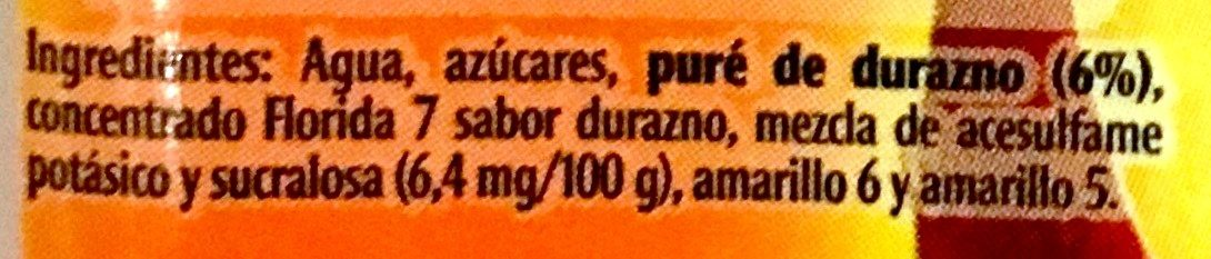 Florida 7 Durazno - Ingrediënten