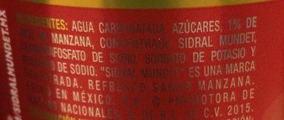 Sidral Mundet - Ingredientes