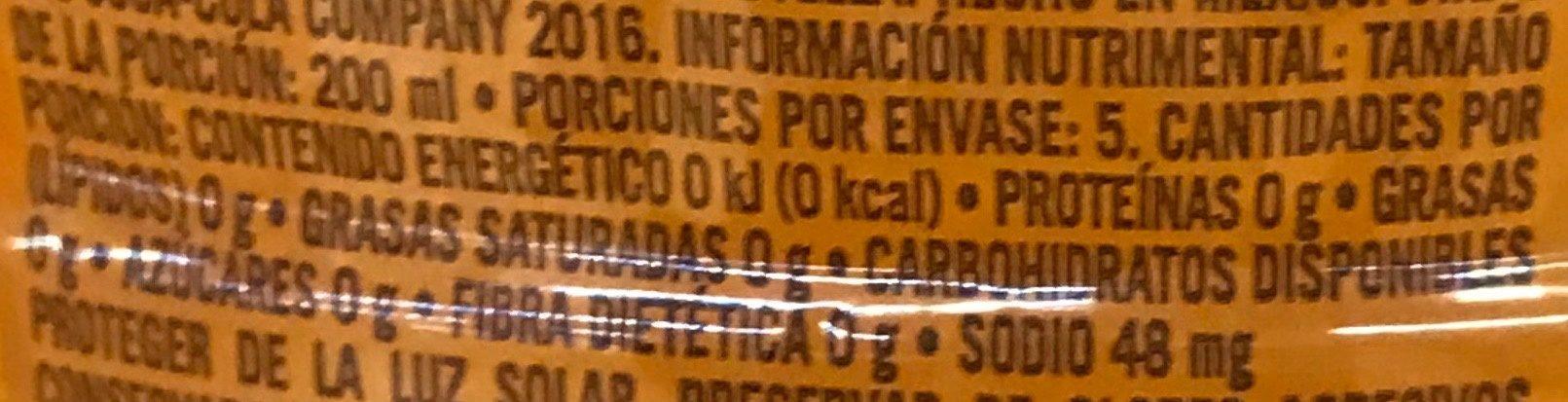 Ciel Exprim sabor Mandarina con Gajos - Informations nutritionnelles - es
