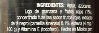 Fuzetea Té negro sabor Frutos Rojos - Ingrediënten