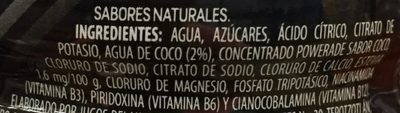 Powerade Ion 4 Coco - Ingredients - es