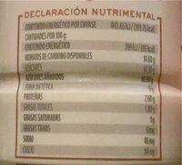 Yogurt fresa - Información nutricional - es