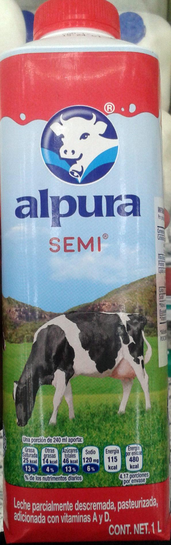 Leche Alpura semi - Product - es