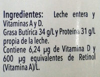 Leche Alpura clásica - Ingrediënten - es