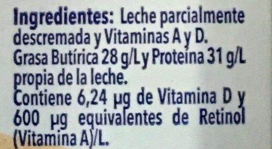 Leche Ultra Pasteurizada Entera - Ingredientes - es