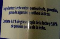 Yoghurt natural sin azúcar - Ingrediënten - es