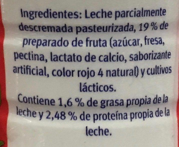 Yoghurt bebible con Fresa - Ingredients - es