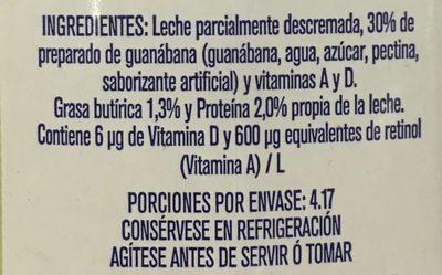 Frutal con leche y fruta sabor Guanábana - 4