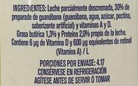 Leche Alpura Frutal sabor Guanábana - Ingrédients - es