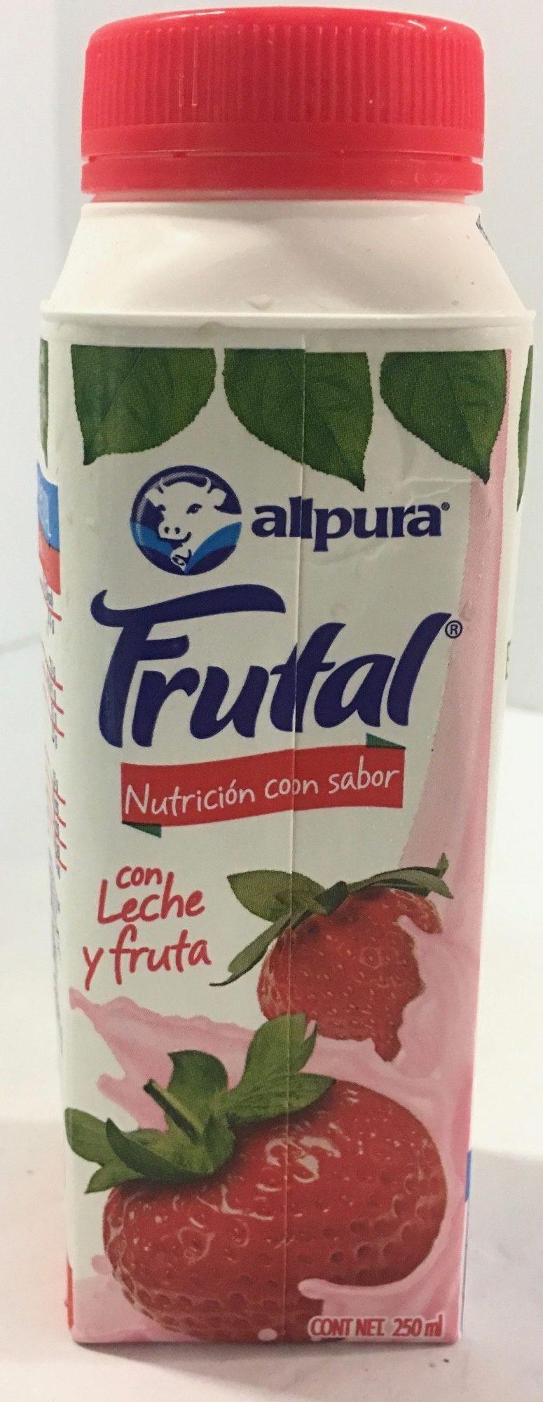 Leche Alpura Frutal sabor fresa, - Produit - es