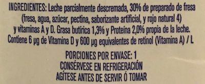 Leche Alpura Frutal sabor fresa, - Ingrédients - es