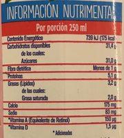 Leche Alpura Frutal sabor fresa, - Informations nutritionnelles - es