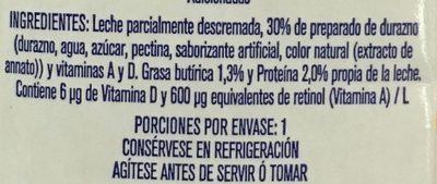 Leche Alpura Frutal sabor durazno - Ingrédients - es
