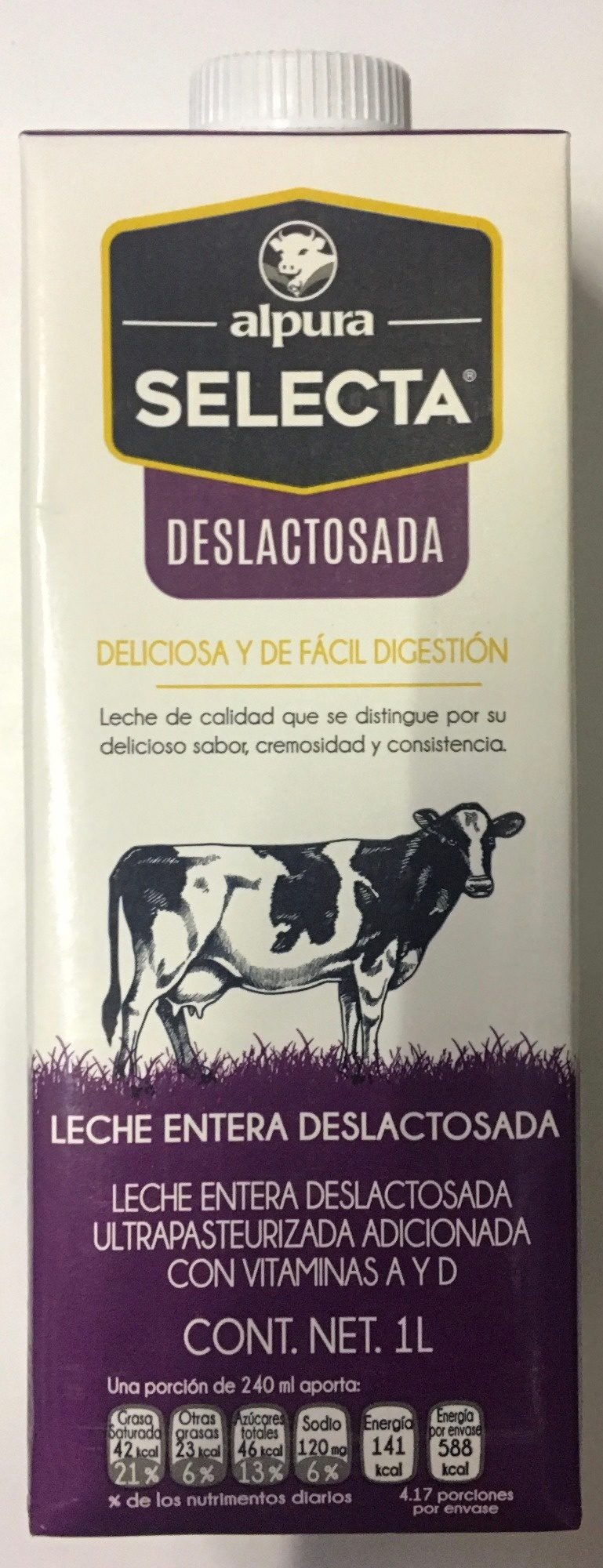 Alpura Selecta Deslactosada - Prodotto - es