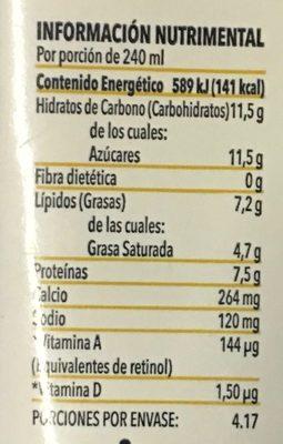 Alpura Selecta Deslactosada - Valori nutrizionali - es