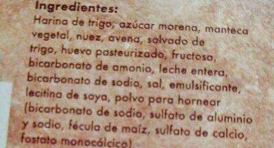 Galletas de nuez - Ingredients