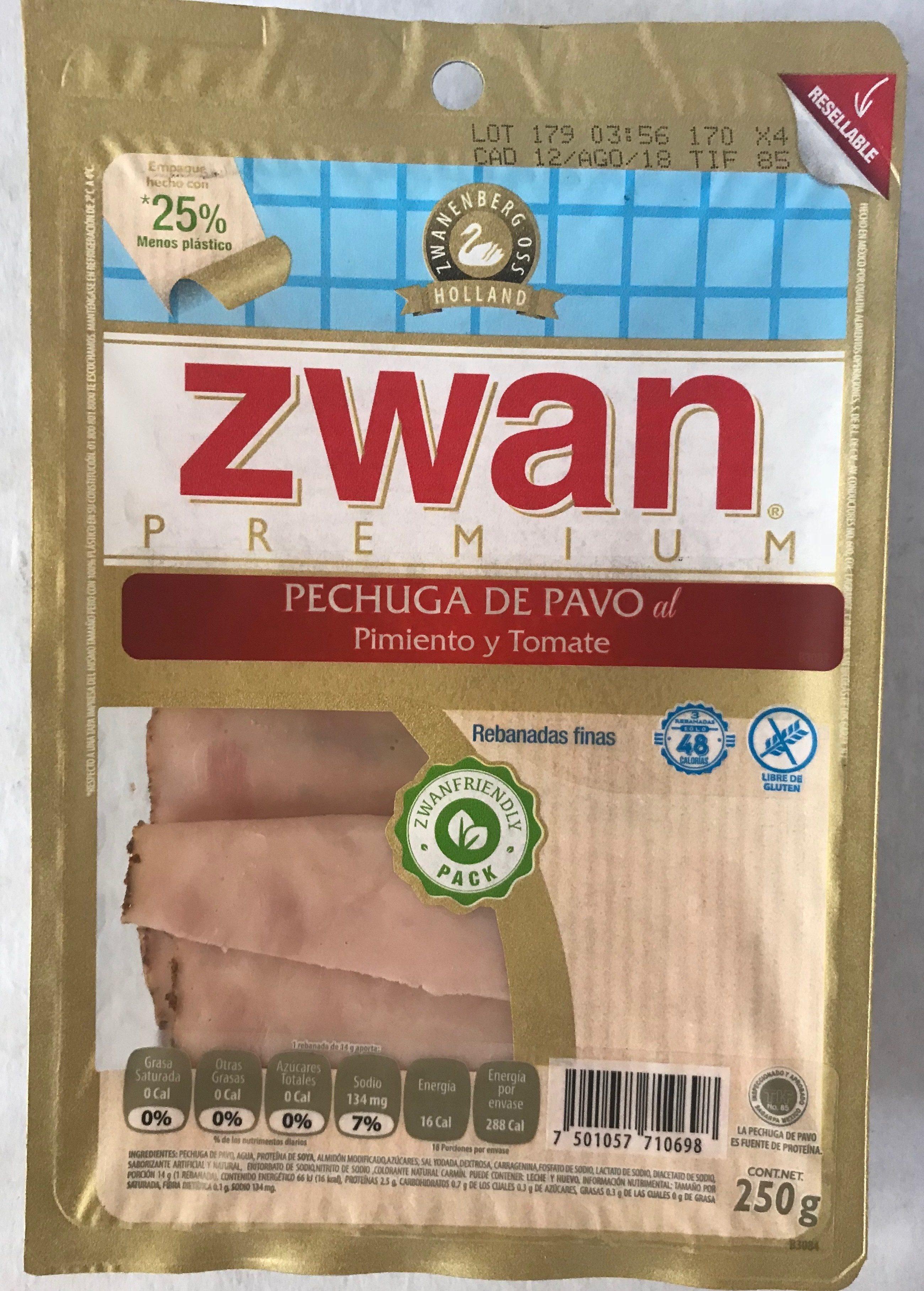 Pechuga de pavo al pimiento y tomate Zwan - Product