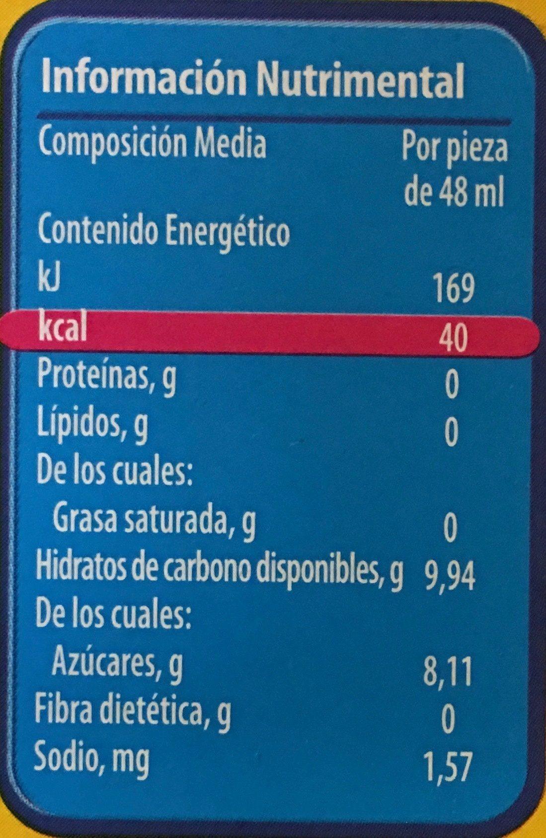 Paletas Lápiz de color Nestle - Informations nutritionnelles - es