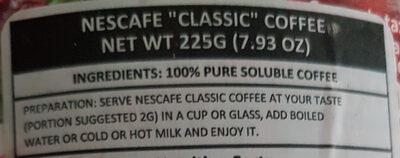 Coffee - Ingredientes - en