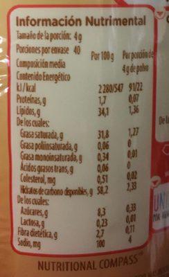 Coffee mate - Voedingswaarden - es