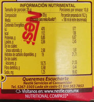 Chocolate Mesa 270 GRS - Nutrition facts