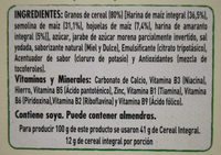 Corn Flakes Amaranto - Ingredients