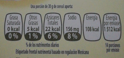 Corn Flakes Amaranto - Nutrition facts