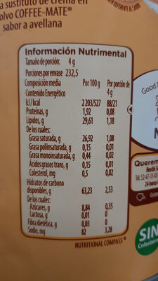 Coffe mate Avellana - Product