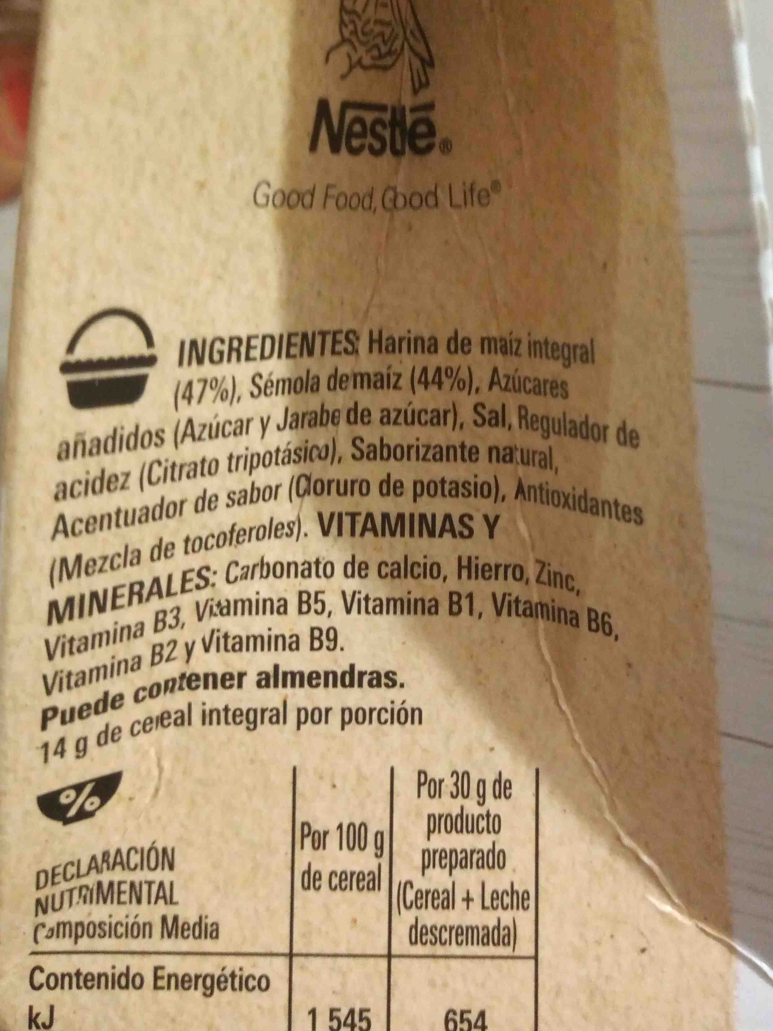 corn flakes sin gluten - Ingredientes - en