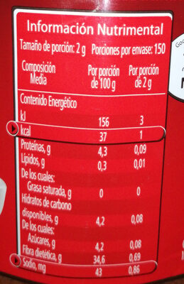 Nescafé Dolca - Nutrition facts - es