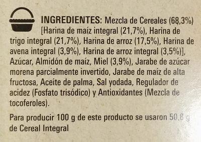 Cheerios Miel - Ingrediënten