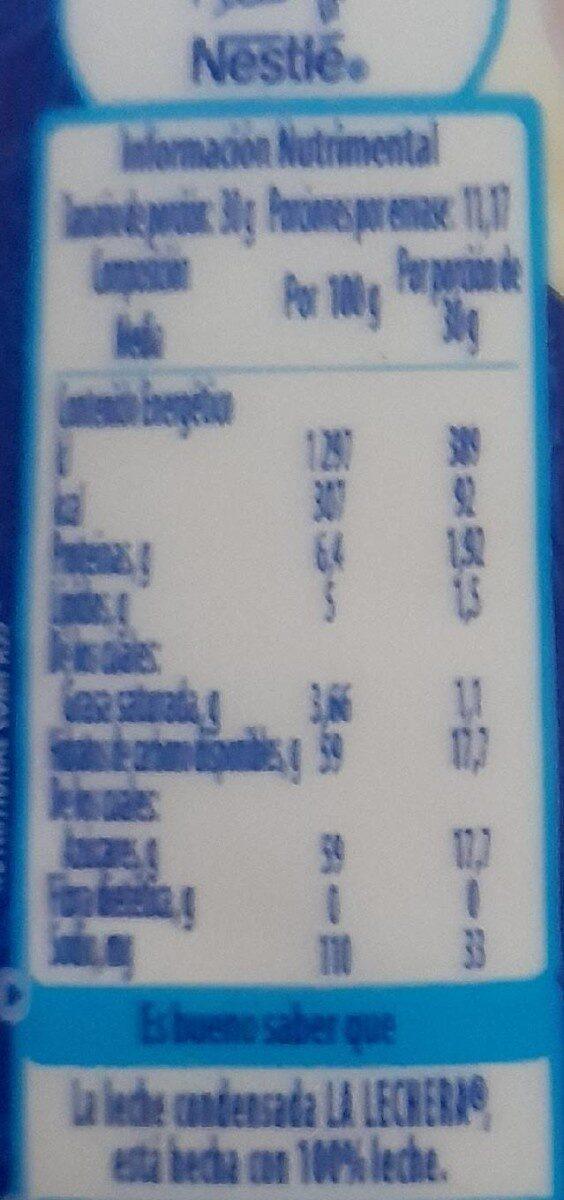 La Lechera Botella Squeeze 335 GRS - Nutrition facts - en