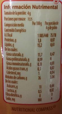 Coffee Mate Lite - Voedingswaarden - es