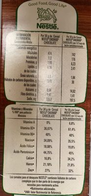 CHEERIOS CHOCOLATE - Informations nutritionnelles - es